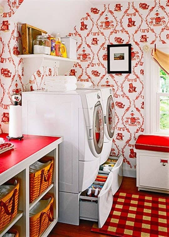 drawers under the washer and dryer