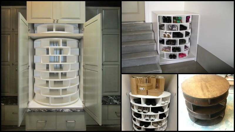 lazy susan shoe storage yes please diy cozy home. Black Bedroom Furniture Sets. Home Design Ideas