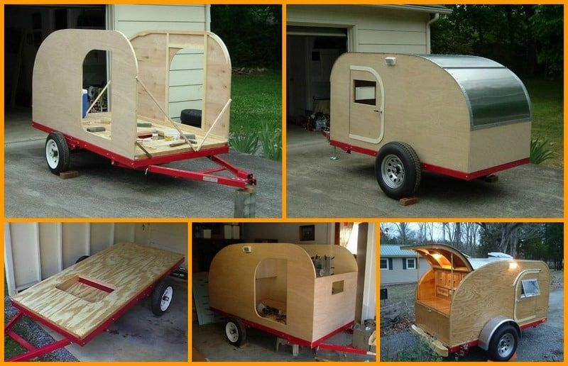 Amazing How To Build Your Own Teardrop Micro Camping Trailer Diy Cozy Home Largest Home Design Picture Inspirations Pitcheantrous