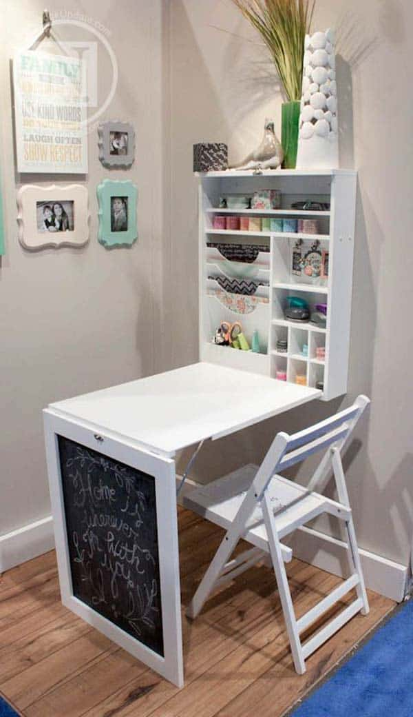 fold down table workstation