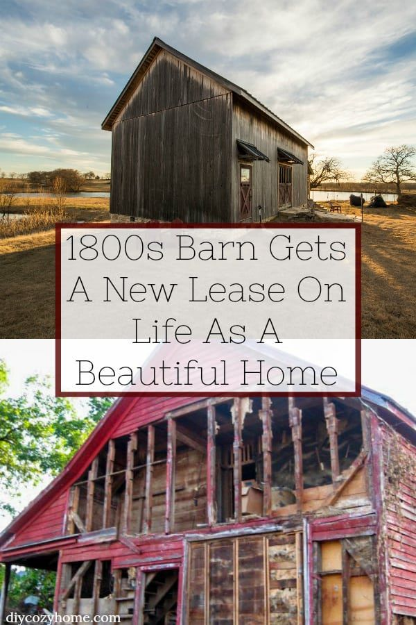 1800s Barn Gets A New Lease On Life As A Beautiful Home #barnhome #barnconversion