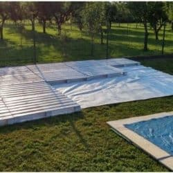 Giant Pile Of Wood Pallets Turned Into Beautiful Poolside Patio