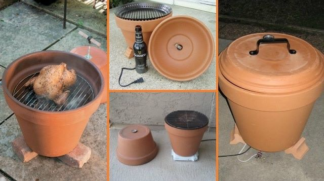 how to build a smoker out of clay pots diy cozy home. Black Bedroom Furniture Sets. Home Design Ideas