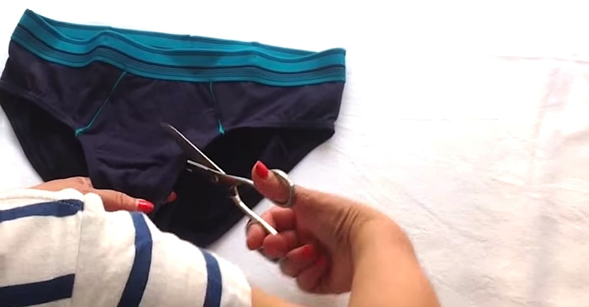 Turn A Pair Of Underpants Into A Sports Bra In Seconds | DIY Cozy Home