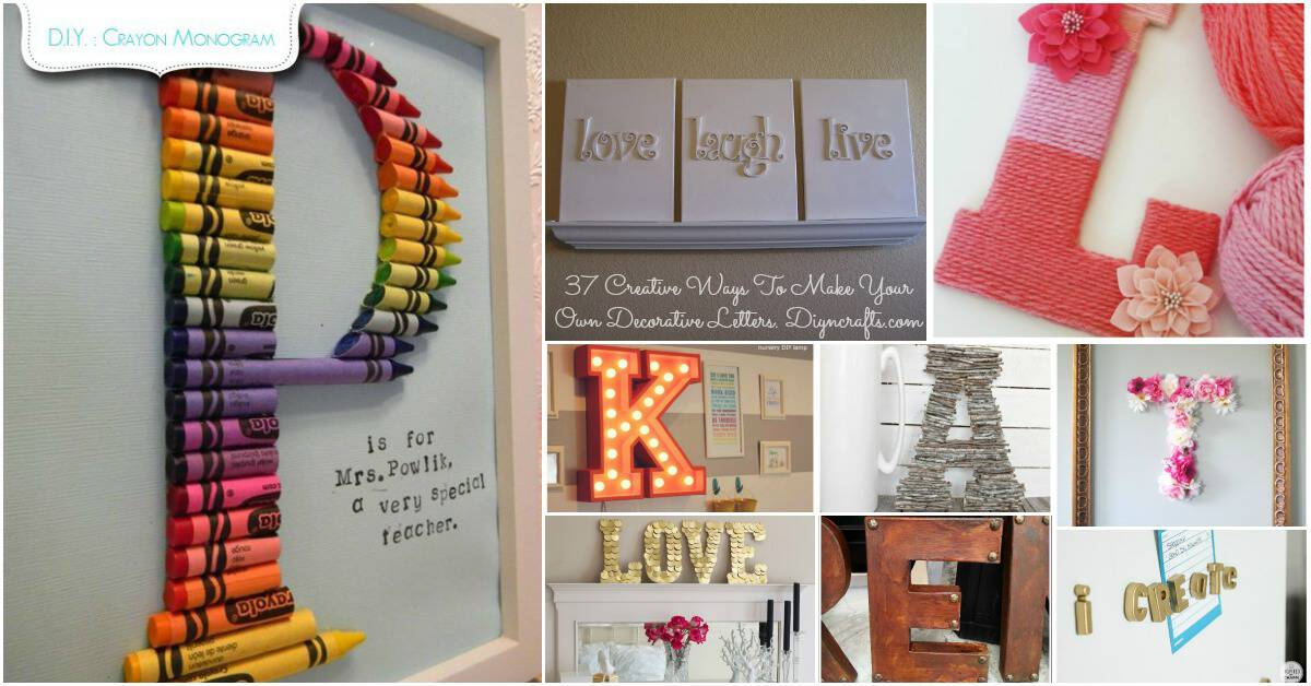 Fabulous ideas for decorating with letters and words diy for Letter f decoration