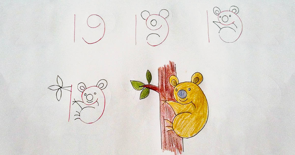 Kid Friendly Drawing Ideas That Use Numbers To Start