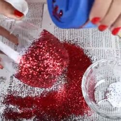 How To Apply Glitter To Glass
