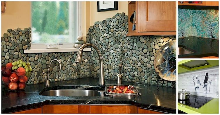 update your kitchen with one of these fun backsplash ideas diy cozy home. Black Bedroom Furniture Sets. Home Design Ideas