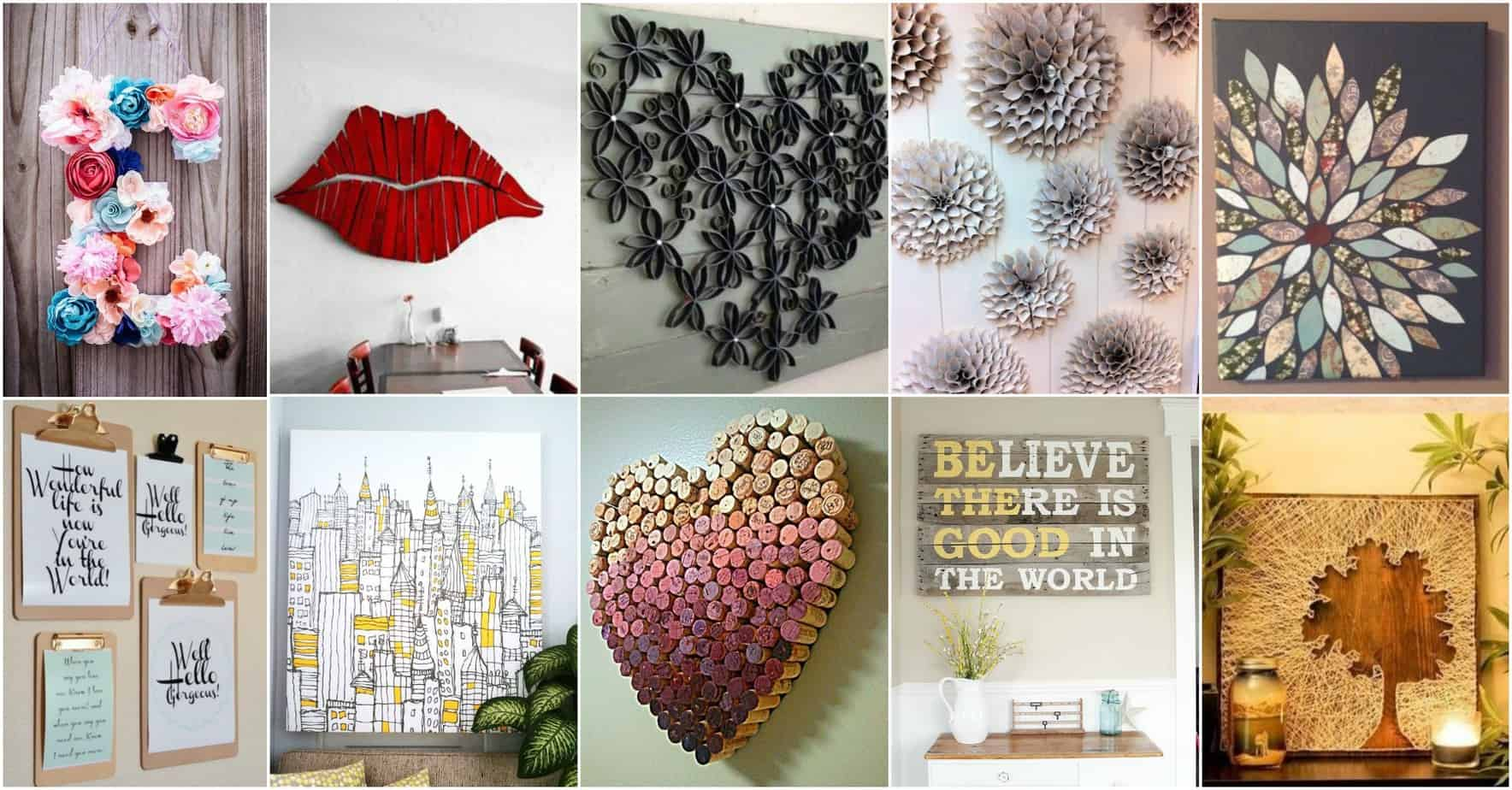 FeelIt: 20 DIY Wall Art Ideas That Will Leave You Speechless