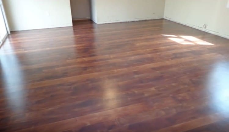 fantastic wood floor on concrete slab roof