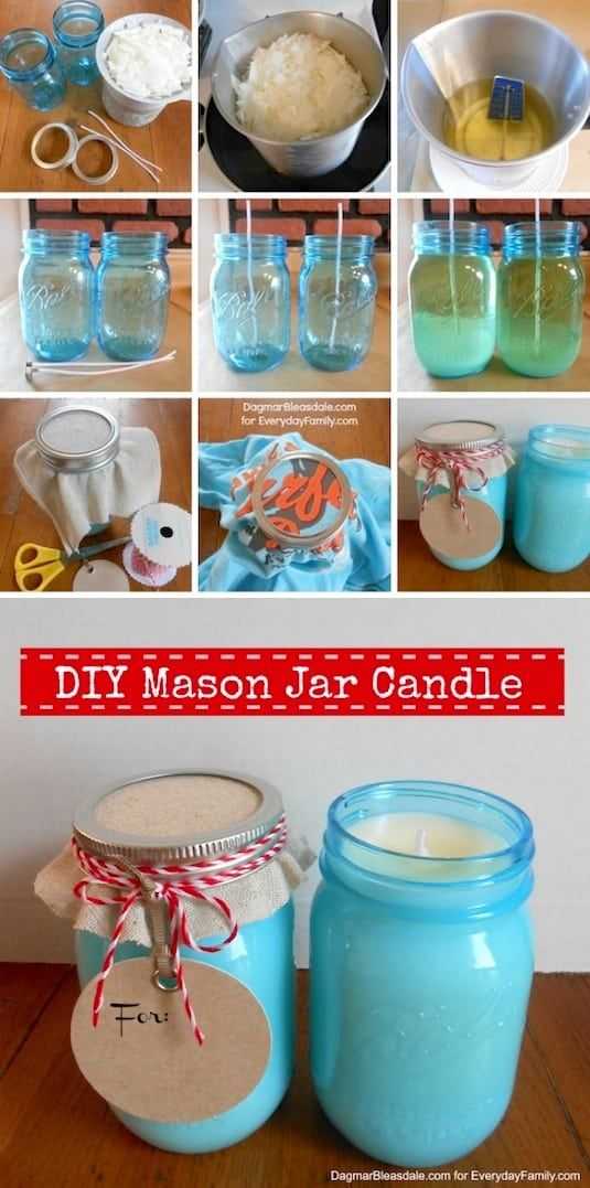 43 fun and creative diy gift ideas everyone on your gift list will fun diy mason jar candles negle Images