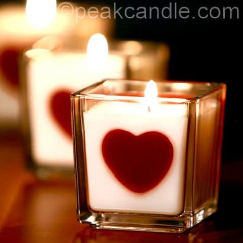 heart-candles