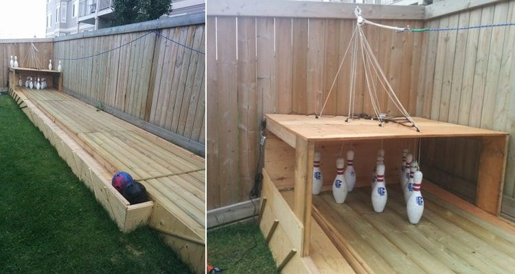 - Learn How To Build A Backyard Bowling Alley