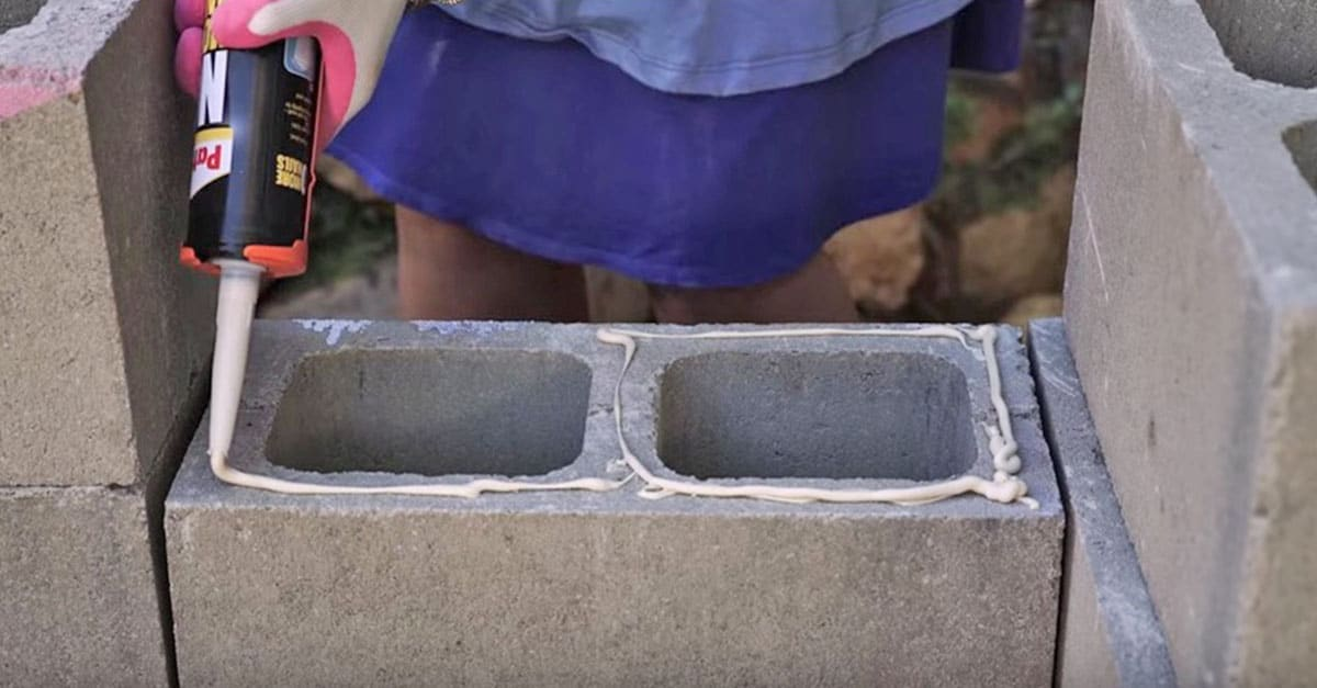 DIY Cinder Block Project For Your Back Patio