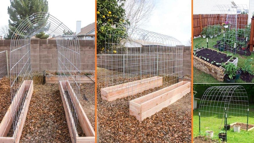 Building A Trellis Tunnel And Raised Garden Bed Combination Diy Cozy Home