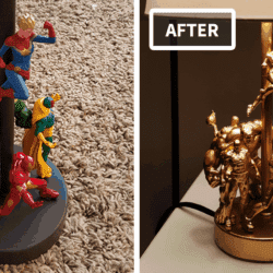 This DIY Lamp Combined With Action Figures Is Totally Epic