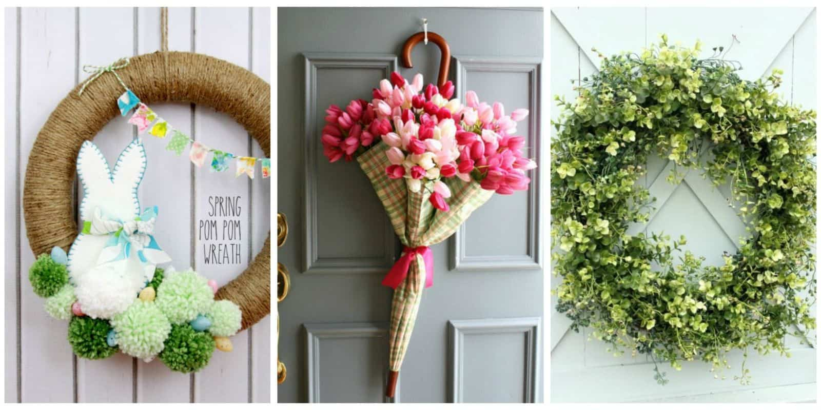 Delicieux CountryLiving: 18 DIY Wreaths To Dress Up Your Door This Spring