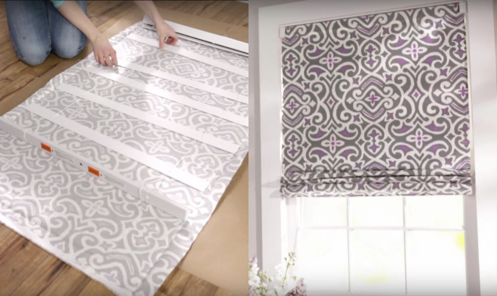 Lay Down Blinds >> Turn Regular Blinds Into DIY Roman Shades