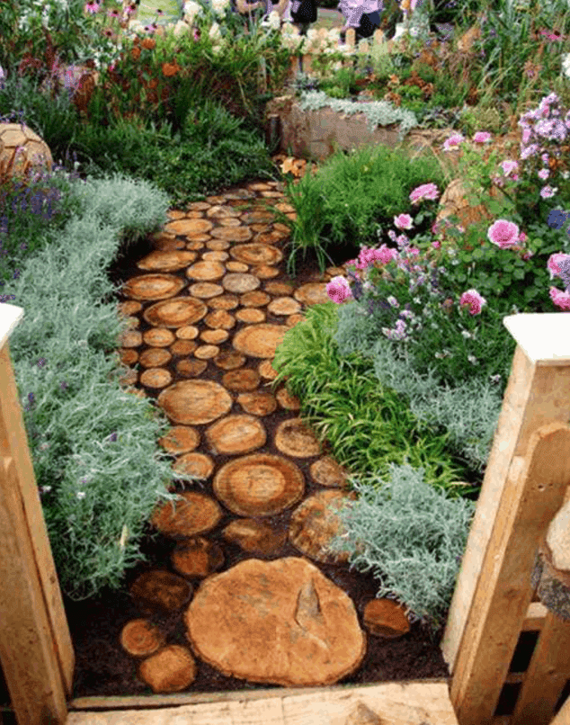 Gorgeous wood pathway: