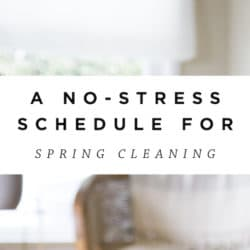 Low Stress Spring Cleaning Guide