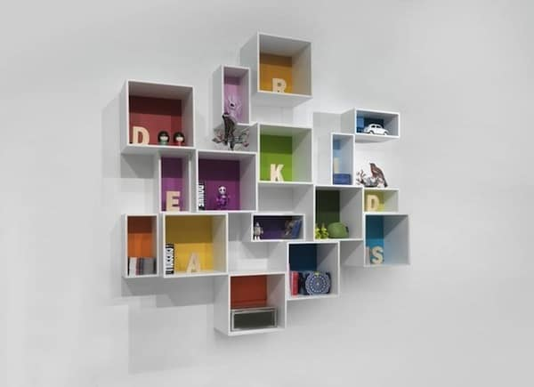 White Floating Bookshelf