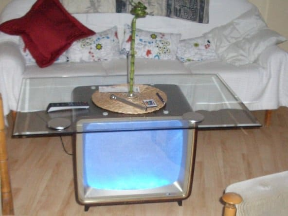 old-tv-table