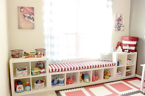 Nice Playroom Storage Idea: Organize Playroom