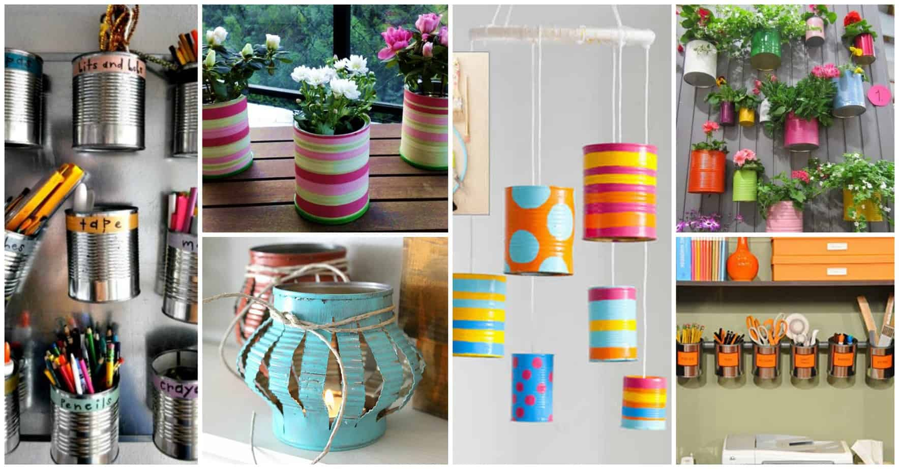 25 Crafty DIY Projects Using Tin Cans