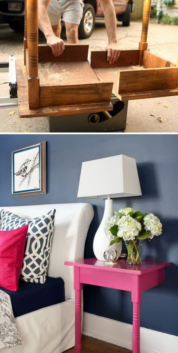 Nightstand 18 Unbelievably Cheap But Awesome DIY