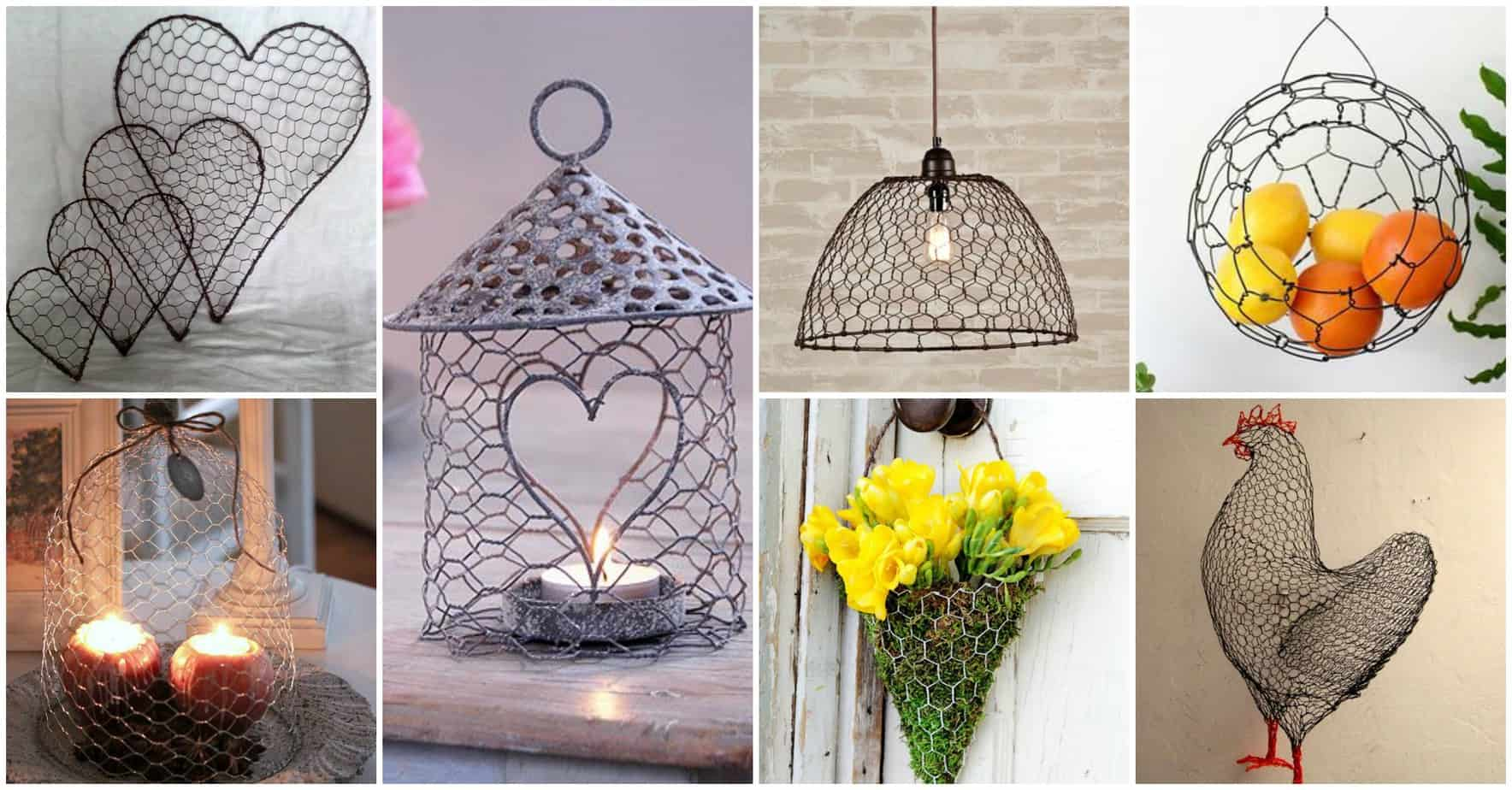 & 13 Spectacular DIY Chicken Wire Craft Ideas