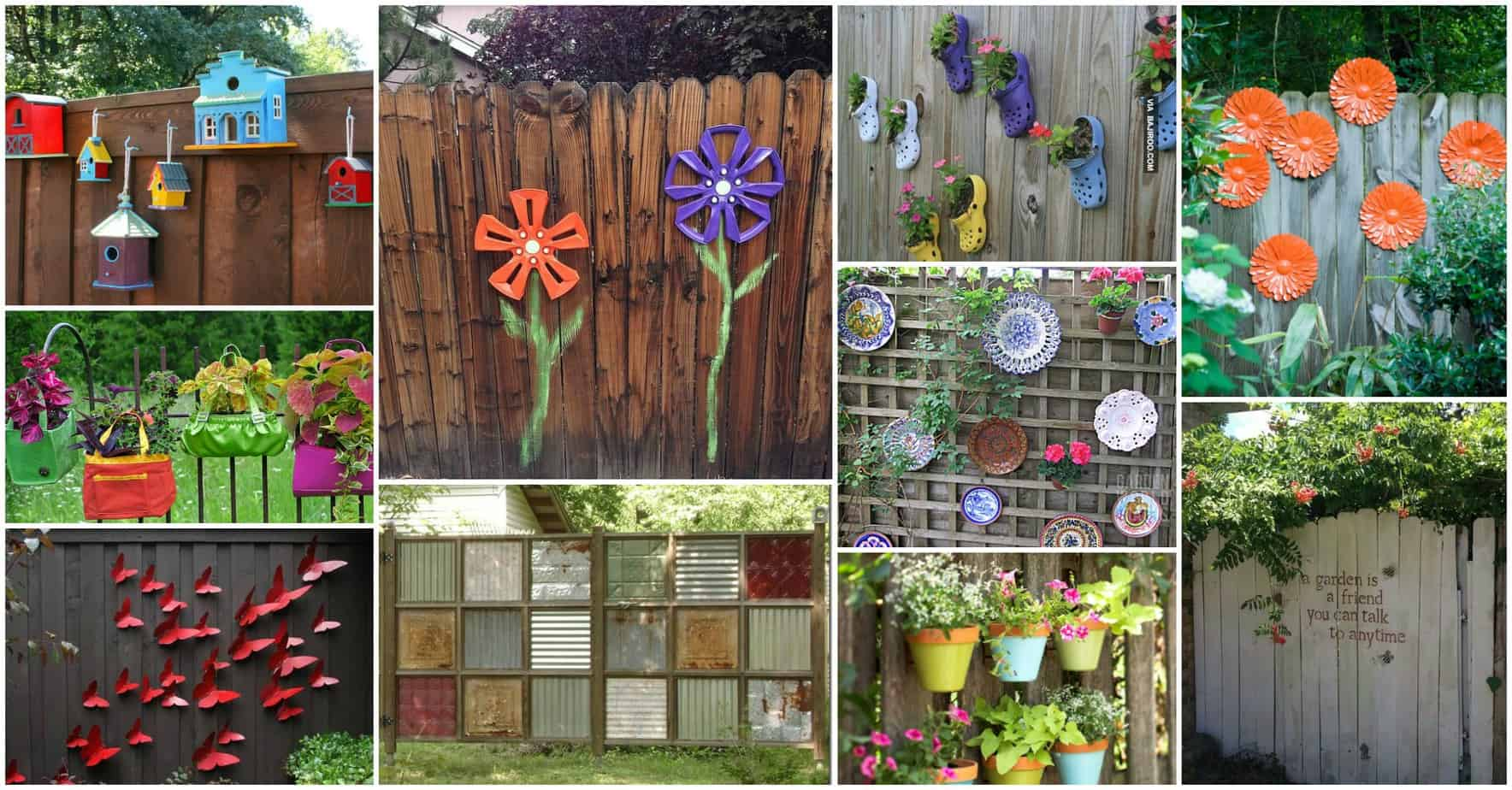 12 beautiful diy fence decoration ideas diy cozy home for Decorating your garden fence