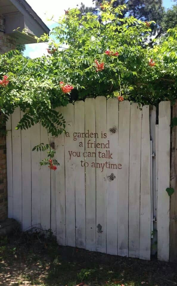 Garden Fence Decoration Ideas fence quote Fence Quote