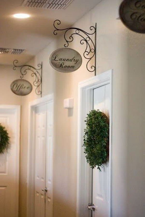 Diy Craft Ideas For Home Decor Part - 50: Hallway Signs