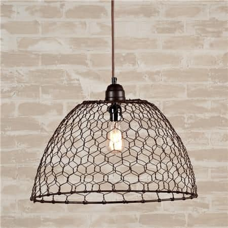 13 spectacular diy chicken wire craft ideas diy cozy home pendant 1 greentooth Gallery