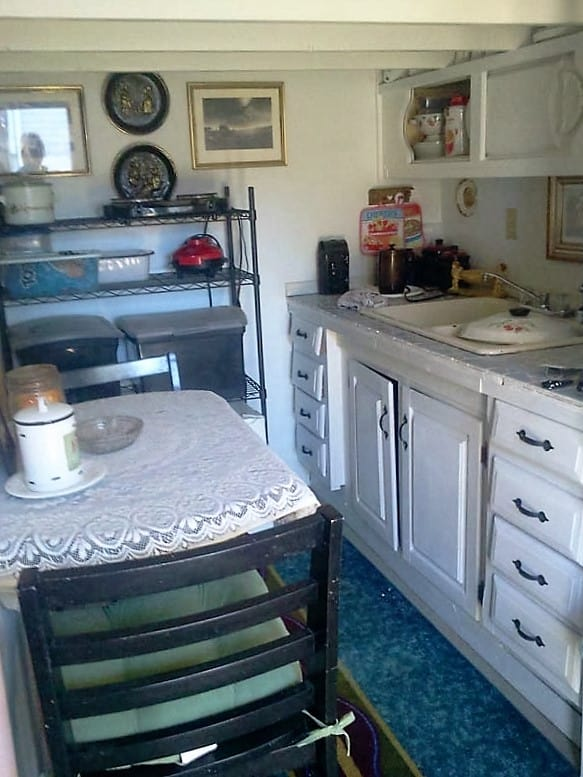shed into a tiny home kitchen 1