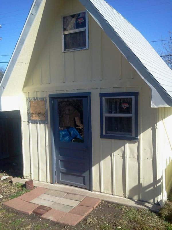 shed into a tiny home 1