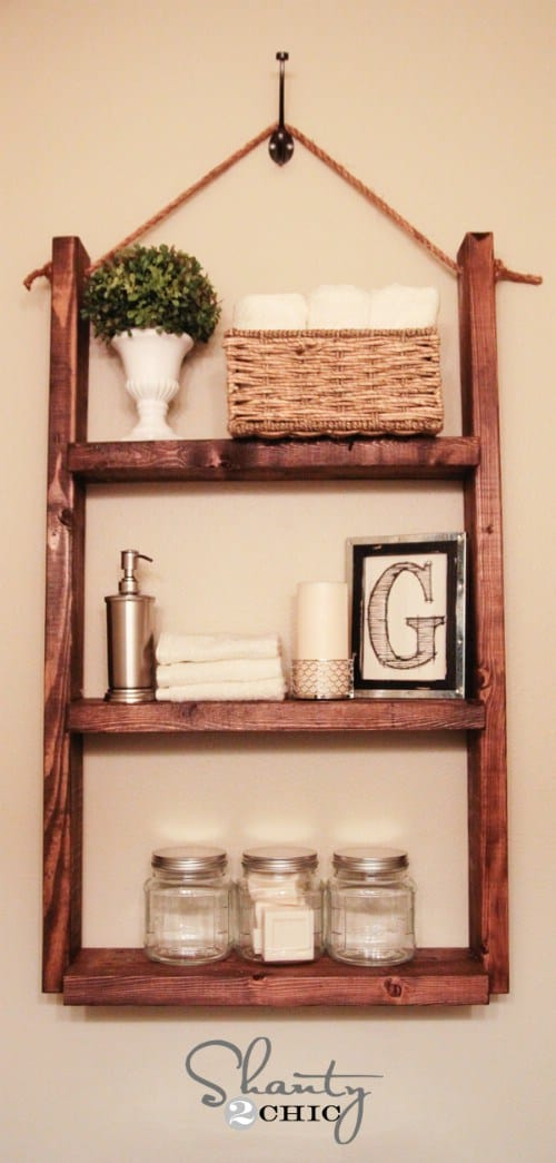 DIY shelves bathroom