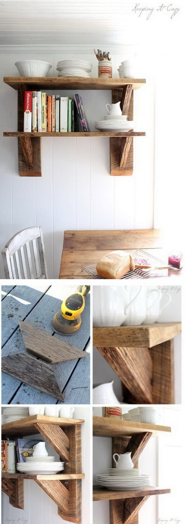 DIY shelves barnwood shelf
