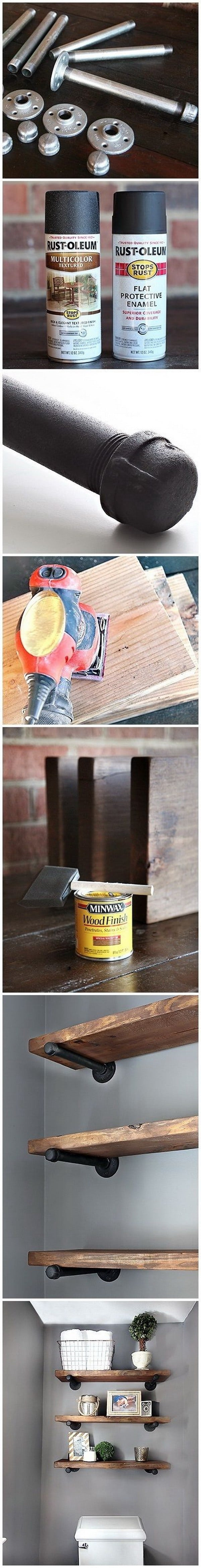 DIY shelves bookshelf hardware