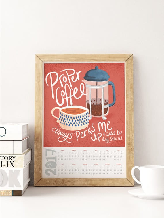 gifts for coffee lovers calendar
