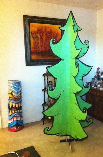 DIY Christmas tree cartoon 2