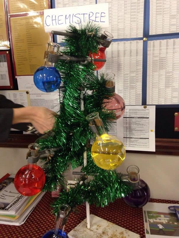 DIY Christmas tree chemistry teacher