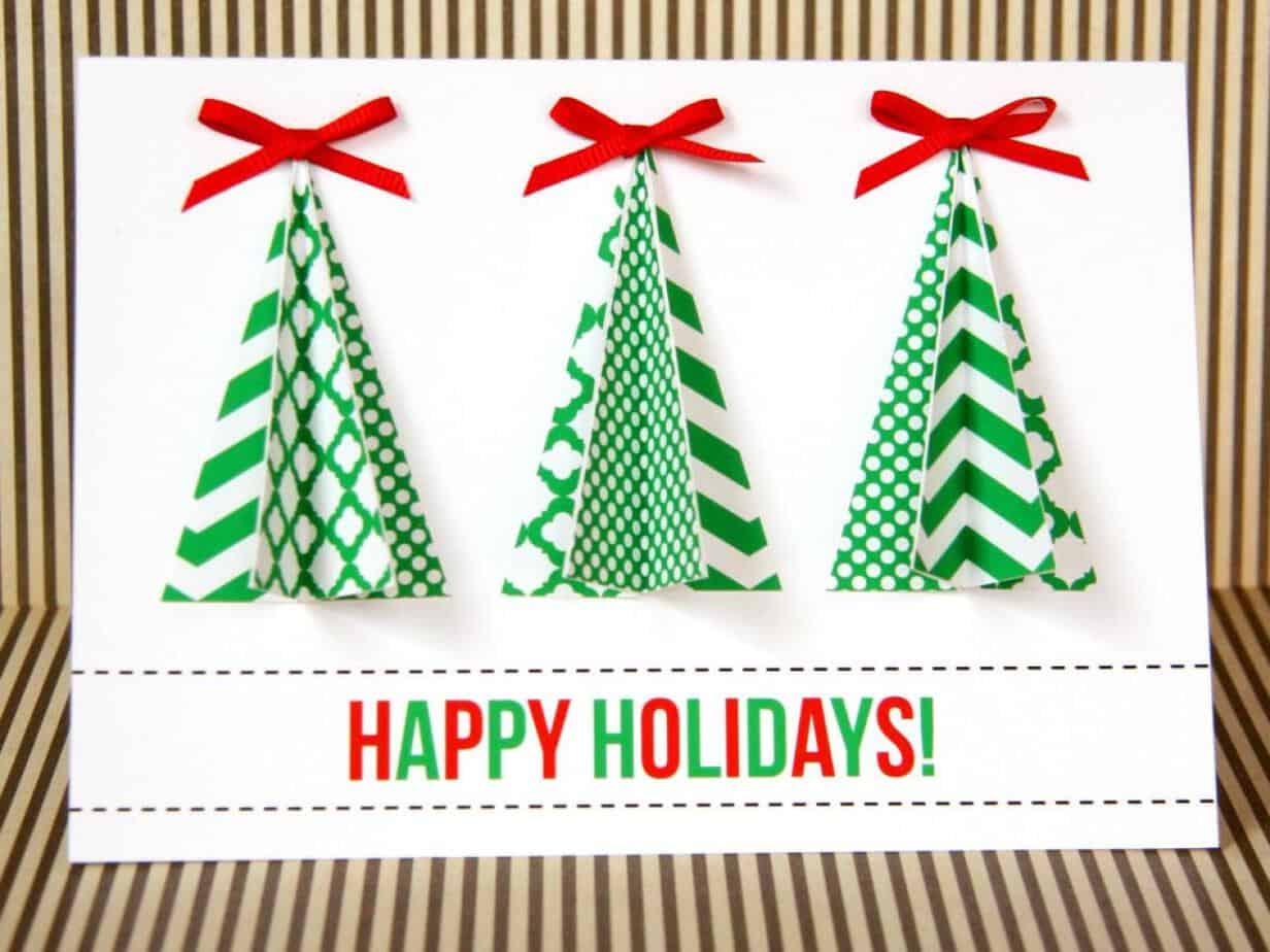16 Festive Diy Christmas Cards Your Family Will Love