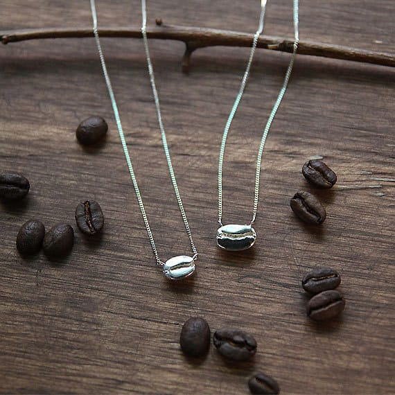 gifts for coffee lovers bean necklace