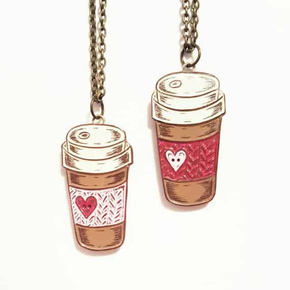 gifts for coffee lovers necklace