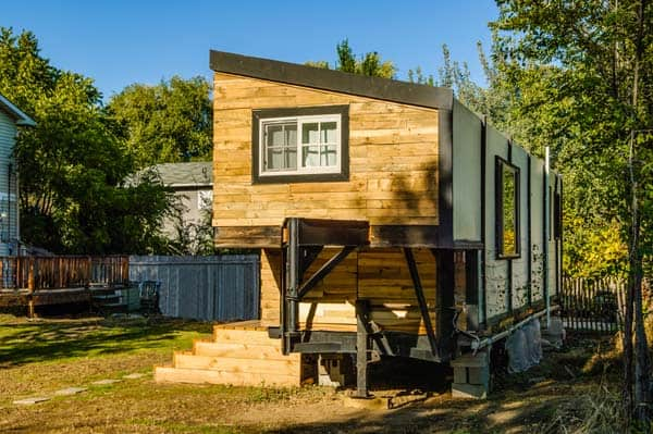 woman built a tiny home construction-2