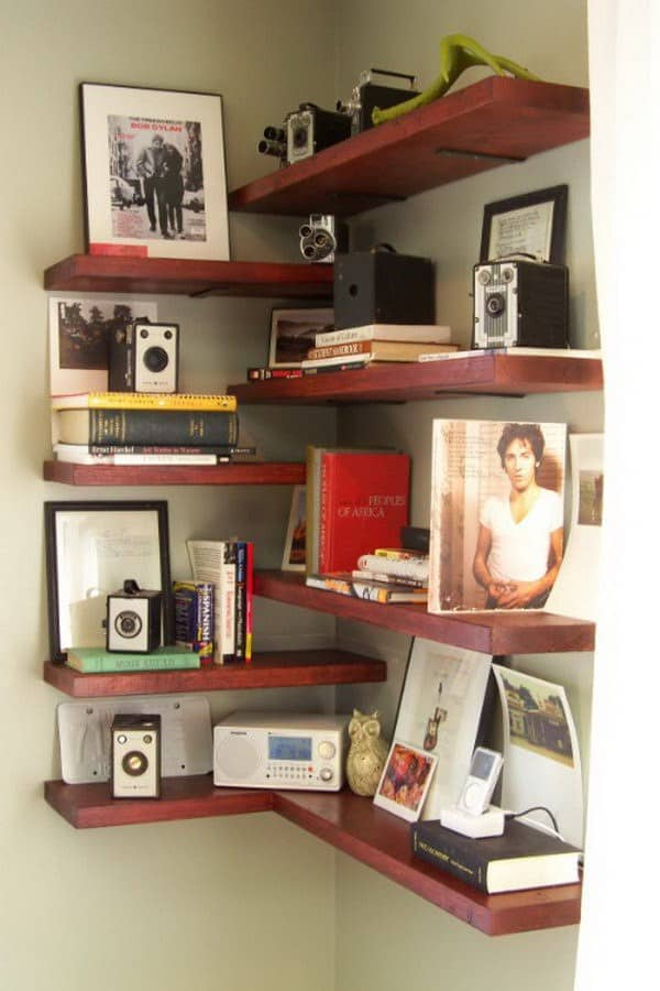DIY shelves corner shelf