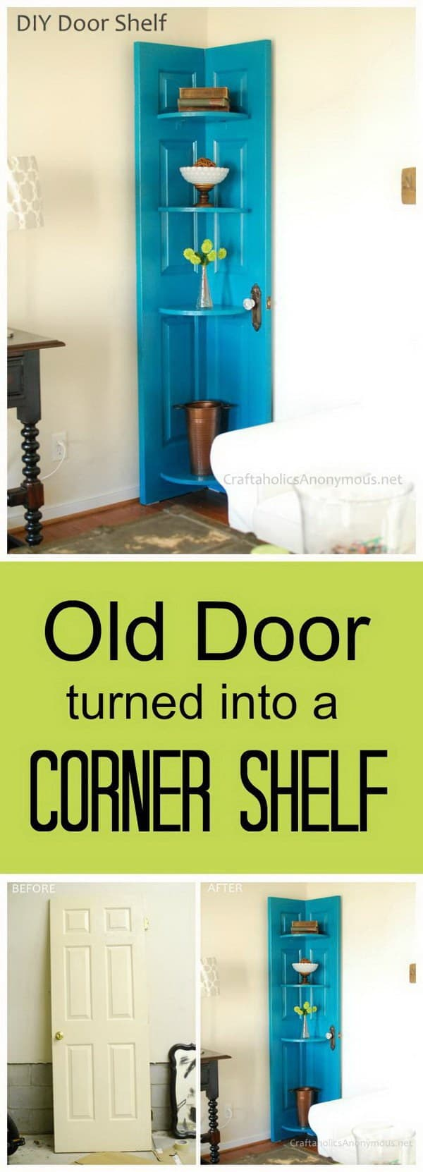 DIY shelves door shelf