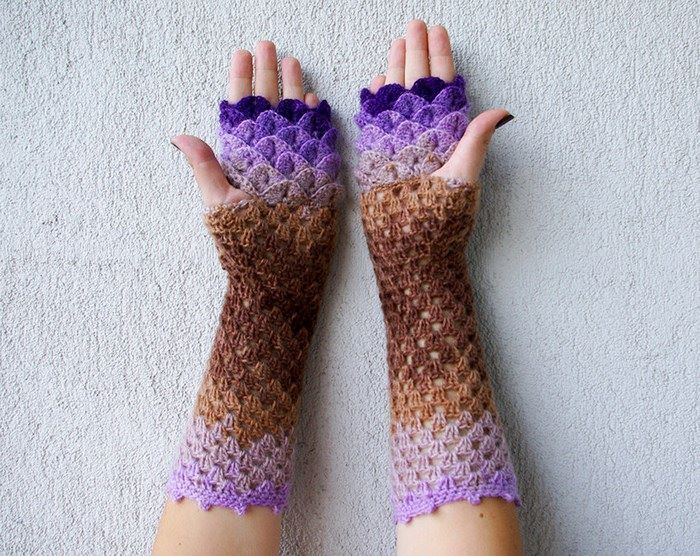 Crochet Dragon Gloves 6