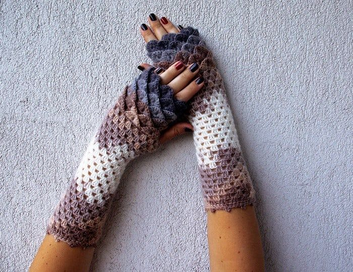 Crochet Dragon Gloves 8